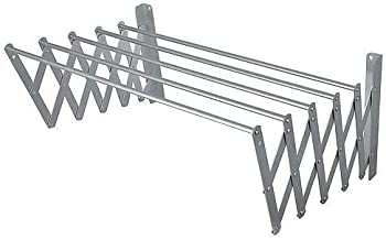 DD RETAILS Cloth Dryer Stand with 5 Lines/Clothesline for Aluminum Wall Or Balcony/Wall Mounted Clothes Drying Rack