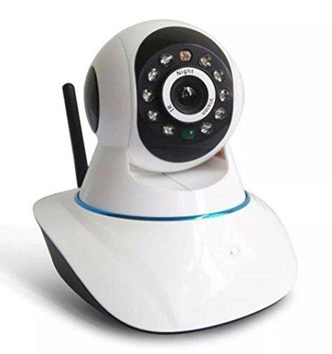 Câmera De Seguranca Ip Wireless Com Ou Sem Fio Para Android Celular E Ios Wifi Hd P2p Com Visão Noturna, microfone e Detector De Movimento CA105