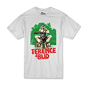 Terence Hill Bud Spencer - Hippo, color blanco Blanco XL