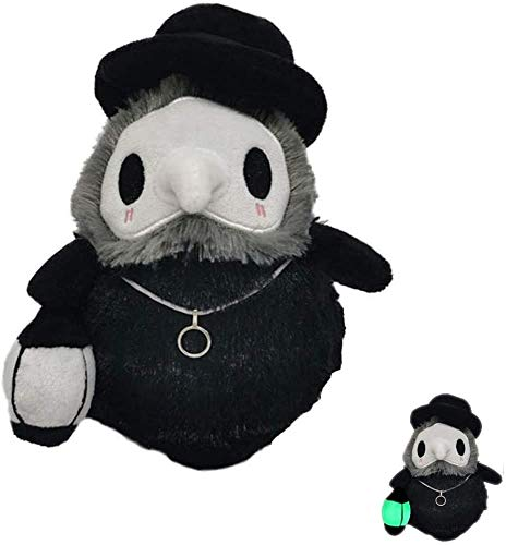 Peluche de Juguete Doctor de la plaga, juguetes de peluche de felpa squishable luminoso de Halloween Mini Doctor de la plaga de la muñeca, hecha de único absorbente de la luz de tela, utilizado for la
