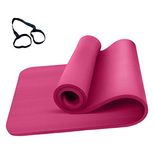 Roeam Esterilla de yoga antideslizante para hombre y mujer, 183 x 61 x 0,8 cm, color rosa