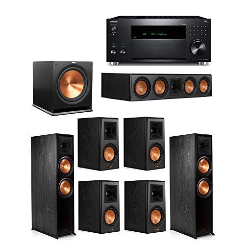 Find Bargain Klipsch 7.1 System with 2 RP-8000F, 1 Klipsch RP-504C, 4 Klipsch RP-500M, 1 Klipsch R-115SW, 1 TX-RZ830 Receiver