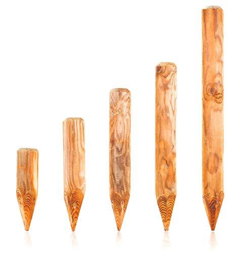 BooGardi Runde Baumpfähle Holzpalisaden · 39 Größen · ø 10cm, Länge: 200cm · Palisaden Holz als Beeteinfassung, Beetumrandung und Rasenkante