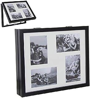 Dcasa Tapa Contador Multifotos Marcos de Fotos Decoración del hogar Unisex Adulto, Negro (Negro), única