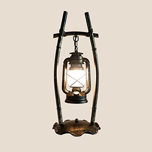 Modeen 58 cm Lampe de chevet Lampe Atmosphère Lampe de Bureau Étudiant Lampe de Table Vintage en Fer Forgé Abat-jour en Verre Lampe de Bureau Lampe de Bureau, Balayage Doré