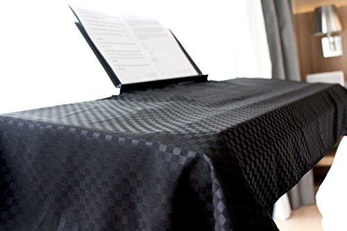 Clairevoire Keyboard & Digital Piano Dust Cover for 88 keys | Double layered extra protection | Book-stand opening | 2019 Universal Minimalist Design | Size-L | 24.8 X 66.9 inches | Ebony Black