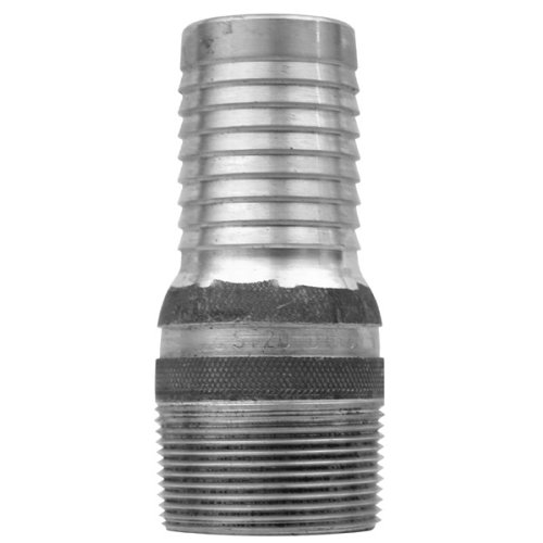 Dixon STC5 Plated Steel Shank/Water Fitting, King Combination Nipple Threaded End with Knurled Wrench Grip, 3/4