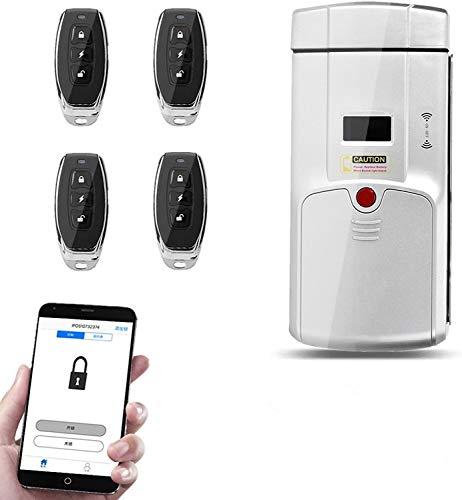 Cerradura de Puerta Inteligente, Combinación de Contraseña de Huella Dactilar Inteligente Sin Llave, Control Remoto, Bloqueo Táctil, Cerradura de Puerta Remota Inteligente Oculta por Bluetooth