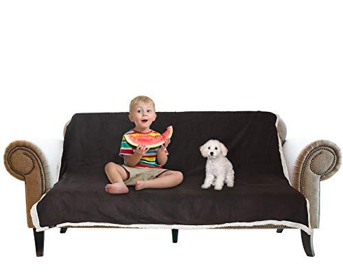 Catalonia Wasserdicht Decke, Tagesdecke Bett Sofaüberwurf Kuscheldecke Schonbezug Couchschoner Wasserabweisend Wohndecke Überwurf Fleece Sherpa Decke for Bett Couch Sofa 152x127cm