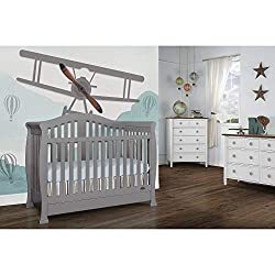 This image shows Dream on Me Addison 5-in-1 that is one of the best cribs with storage underneath in my review