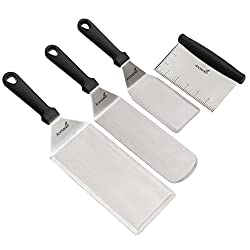 Premium Pick for Best Spatula for Cast Iron: Anmarko Commercial Grade Stainless Steel Metal Spatula Set