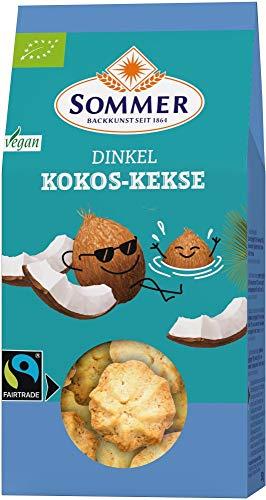 Sommer & Co. Bio FAIRTRADE Kokos - Feine Plätzchen, vegan (6 x 150 gr)