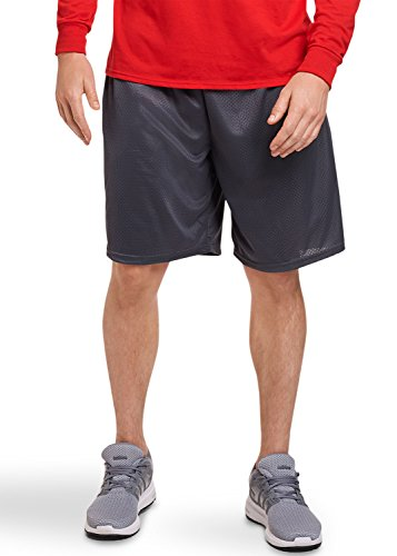 Russell Athletic Men's Mesh Short with Pockets, Stealth, Large