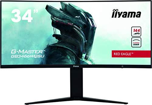 """iiyama G-Master GB3466WQSU-B1 LED Display 86,4 cm (34"""") 3440 x 1440 Pixeles UWQHD Negro"""