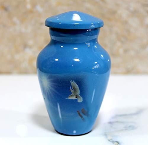 eSplanade Feuerbestattungsurne Urnen | Metallurnen | Bestattungsurne | Denkmäler Andenken Urne (Blaue Taube)