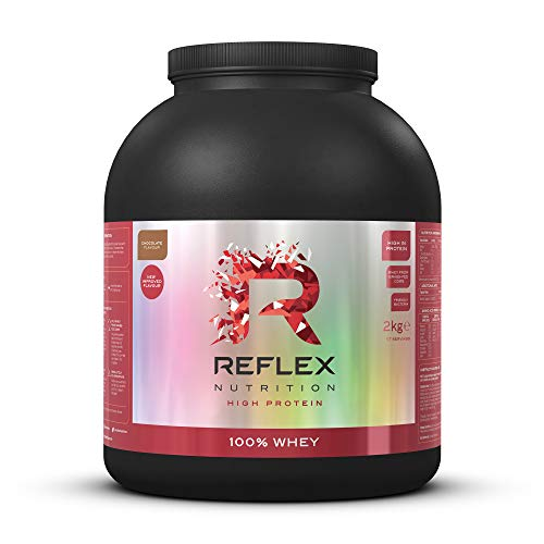 Reflex Nutrition 100% Whey Protein Powder Pure Whey Concentrate & Amino Acids Amazing New Taste No Added Sugar Protein Powder (Chocolate, 2kg)