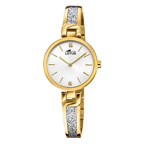 LOTUS Reloj Modelo 18723/1 de la colección Bliss, Caja de 30 mm Plata con Correa de Acero Chapado para señora