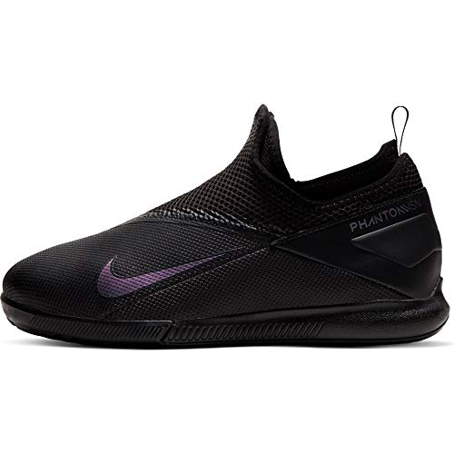 Nike Phantom VSN 2 Academy DF IC, Botas de fútbol Unisex niños, Negro 010, 35.5 EU