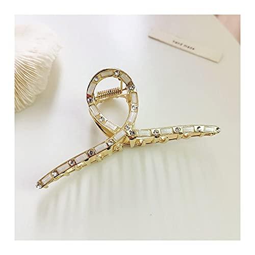 GSJCY Pinza de Pelo de Mujer de Metal Perlado Pasador geométrico Barrette Hairpin Gold Accesorios para el Cabello Herramientas de joyería de Estilo de Moda (Color : B)