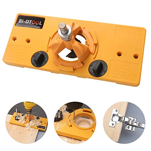 BI-DTOOL 35mm Hinge Drilling Jig Hole Guide Woodworking Tools for Kitchen Cabinet Doors Hinge