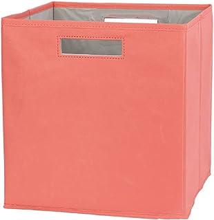 Onlyup Panier de rangement pliable en tissu pour livres, jouets, travaux manuels, 30 x 30 x 30 cm (Orange)