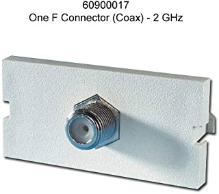 Ortronics Series II 1-Port F-Connector Module, Fog White OR-60900017