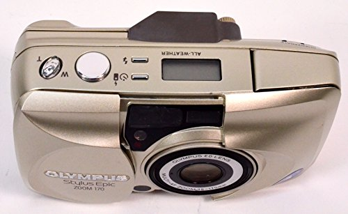 Olympus Stylus Epic Zoom 170 Deluxe QD Quartz Date 35mm Film Flash Point & Shoot Camera with Olympus ED Lens Multi-AF ZOOM 38-170mm 35mm Film Camera (Gold Color Version)