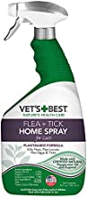 Vet's Best Flea and Tick Home Spray for Cats | Flea Treatment for Cats and Home | Flea Killer with Certified Natural Oils | 32 Ounces