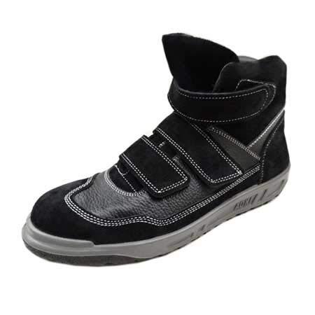 [青木産業] 安全靴 安全スニーカー N4900 KARASU 黒 ハイカット マジック(カラー 25.5)