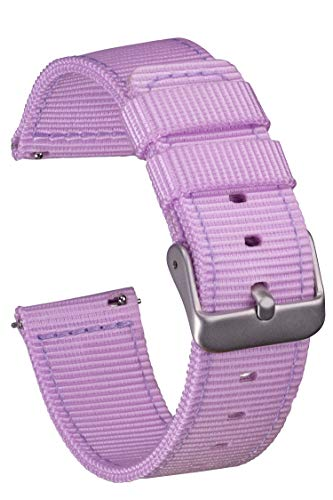 GadgetWraps 20mm Gizmo Watch Nylon Watch Band Strap with Quick Release Pins – Compatible with Gizmo Watch, Samsung, Pebble – 20mm NATO Watch Band (Purple Ice, 20mm)