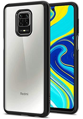 【Spigen】Redmi Note 9S ケース/Note 9 Pro Max/Note 9 Pro 対応 TPU バンパー PC 背面 二層構造 耐衝撃 衝撃 吸収 傷防止 カメラ保護 レッドミー ノート9S カバー シュピゲン ウルトラ・ハイブリッド ACS01191 (マット・ブラック)