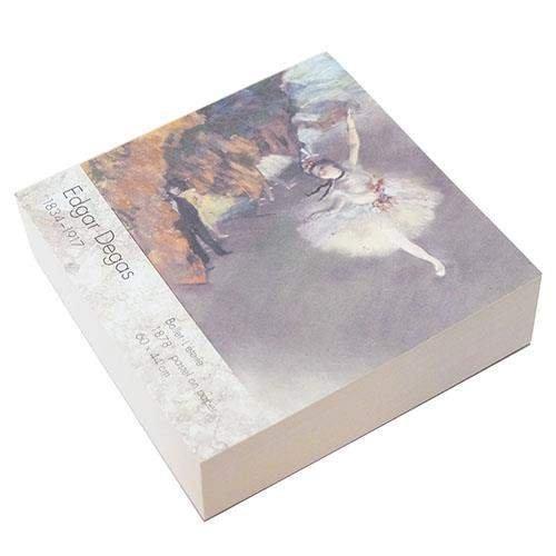 エドガー・ドガ[メモ帳]印象派ブロックメモ/エトワール アート作家 ジェイエム メモパッド 絵画 雑貨 通販