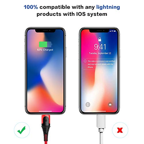 XLTOK iPhone Ladekabel 3 Pack [1m+1m+2m] Lightning Kabel Schnellladung iPhone USB Ladekabel für iPhone 11 /XS/XSMax/XR/X /8/8 Plus /7 /7Plus /6s /6 /6Plus /5S /5, iPad