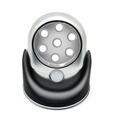 人感センサー&懐中電灯 LEDライト パッとひかる君 置き型 電池式 持ち運び 室内 非常用