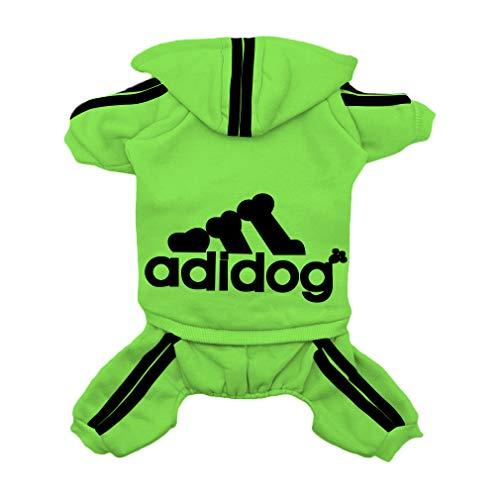 Scheppend Pet Clothes for Dog Cat Puppy Hoodies Coat Doggie Winter Sweatshirt Warm Sweater Dog Outfits, Green Medium