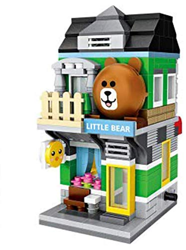 LOZ Mini Building Blocks Building Puzzles Street Toys for Kids&Adults Street Seriers in Shopping Building 3D Puzzles DIY Intelligence Educational Toys Games Models Kits Gifts(LITTLE BEAR 1630)