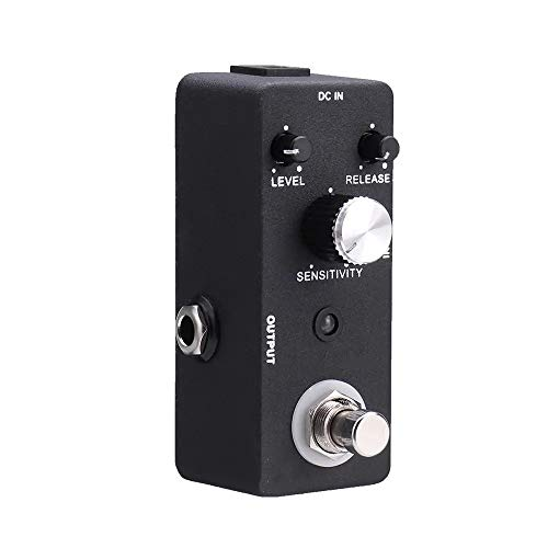 NBNBN E-Gitarren-Effektpedal Analog Heavy Metal Distortion EX TC-81 COMP E-Gitarren-Compressor Compression-Effekt-Pedal Klare artikulierte Tonproduktion (Farbe : Black, Size : One Size)