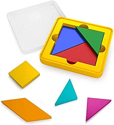 Osmo - Genius Tangram - Ages 6-10 - Use Shapes/Colors to Solve for Visual Puzzles (500+) - For iPad or Fire Tablet (Osmo Base Required - Amazon Exclusive) by Osmo