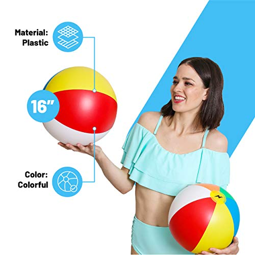 "UpgradeWith 16"" Rainbow Beach Ball 