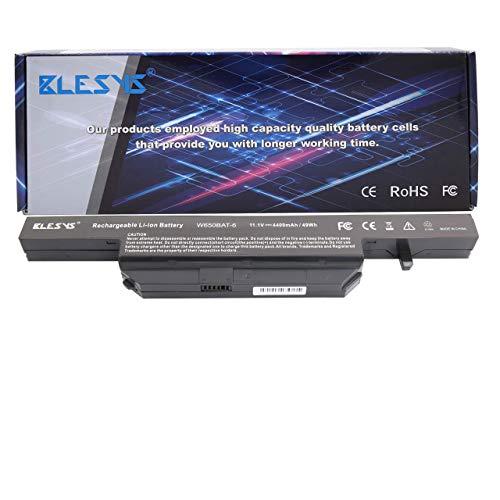 BLESYS Akku Clevo W650BAT-6 6-87-W650-4E42 6-87-W650S-4D4A3 Kompatibel mit Laptop Akku Clevo W650 W650S W650SC W650SH W650SJ W650SR W650SZ W670SJQ; Hasee K610C K650D K570N K710C K590C K750D K710C-I7