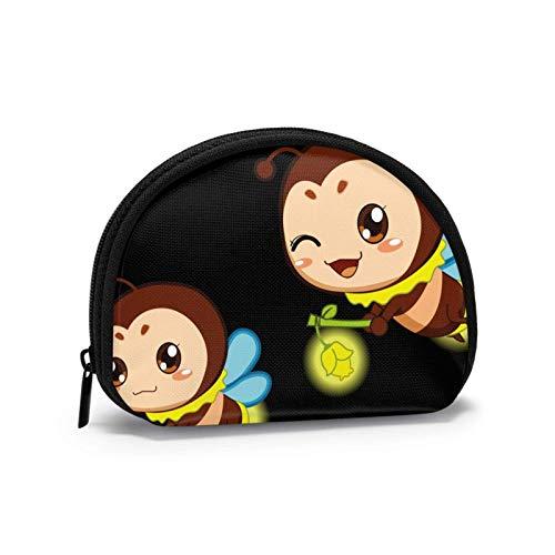 Mini-Aufbewahrungstasche, Muschel-Geldbörse, kleine Tasche, tragbare Brille, Cartoon-Bienen-Laterne, Geldbörse, Schmucktasche, Kosmetiktasche