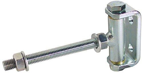 Gedotec Türscharnier Gartentor Türbänder Stahl Torangel verstellbar | M16 x 200 mm | Tor-Scharnier mit Öffnungswinkel 180° | Torband für Holz & Metall-Bau | 1 Stück - Hängescharnier für Tore & Zäune