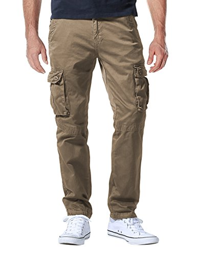 Match Men's Casual Wild Cargo Pants Outdoors Work Wear #6062(29,Dark Khaki)