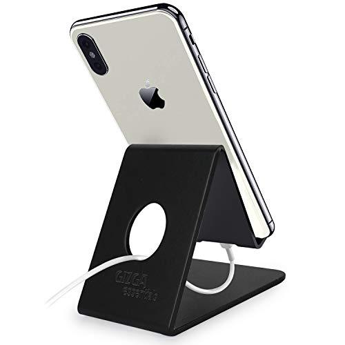 Gizga Essentials G32 Mobile Phone Stand Holder for All Tablet and Smartphones (Black)