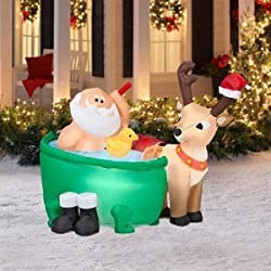 santa inflatables are the classic and most popular inflatable christmas decorations