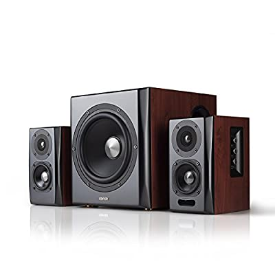 Edifier S350DB 2.1 Speaker System with Bluetooth aptX - Brown from Edifier