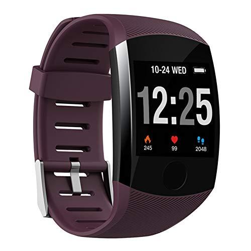 Nobrand QingDaoFuLongGuanHuangMuYeGongSi Bluetooth-Smartwatch, Herren, Q18, mit Kamera, Facebook, WhatsApp, Twitter, Synchronisation, SMS, unterstützt SIM- und TF-Karte für iOS Android, 0, violett