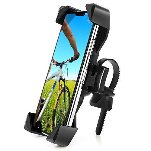 自転車 スマホ ホルダー ワンタッチ固定式ロードバイクスマートフォンホルダー-DODOLIVE 最新版,360度回転自転車 携帯 ホルダー GPSナビ 落下防止 強力固定 iPhone X XS 8 7 6 6S Plus Samsung Sony LG Huaweiのスマホに対応 日本語取扱説明書付き