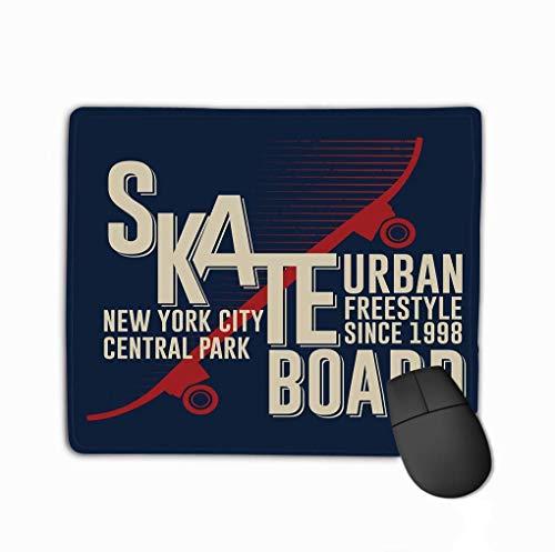 Mauspad Skateboarding New York Grafikdesign Skateboarding Grafikbekleidung Design Freestyle New York City Skateboard Rechteck Gummi Mousepad