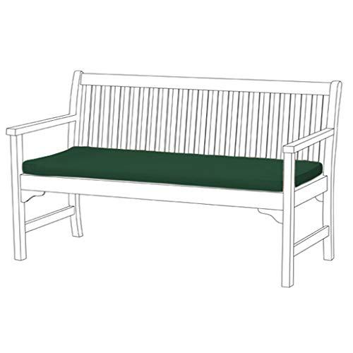 Gardenista® | Garden Bench Cushion 3 Seater Outdoor/Indoor Water Resistant & Fire Retardant Cushion Patio Furniture Pad (Green)